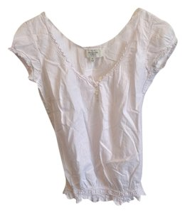 Abercrombie & Fitch Top Light pink pinstripe and white