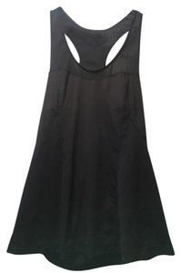 Zella perforated black racerback dry-fit tank with fun back cutout