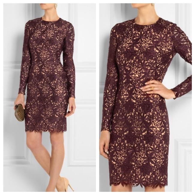 Preload https://img-static.tradesy.com/item/21955190/stella-mccartney-burgundy-red-lace-guipure-crochet-floral-mid-length-cocktail-dress-size-4-s-0-0-650-650.jpg