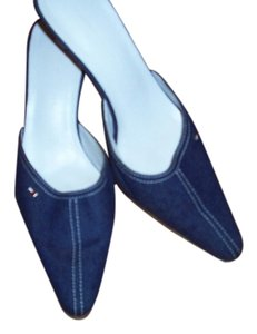 Tommy Hilfiger Blue Jean Material Mules