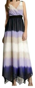 Purple, Cream Maxi Dress by Express