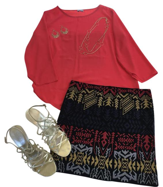 Preload https://img-static.tradesy.com/item/21955268/willow-and-clay-black-red-blue-tribal-skirt-size-12-l-32-33-0-1-650-650.jpg