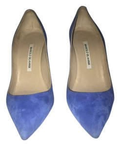 Manolo Blahnik Electric Blue Pumps
