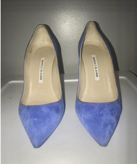 Manolo Blahnik Electric Blue Pumps Image 3
