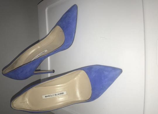 Manolo Blahnik Electric Blue Pumps Image 4