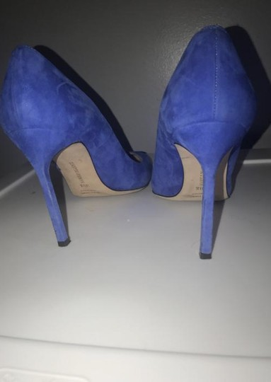 Manolo Blahnik Electric Blue Pumps Image 5