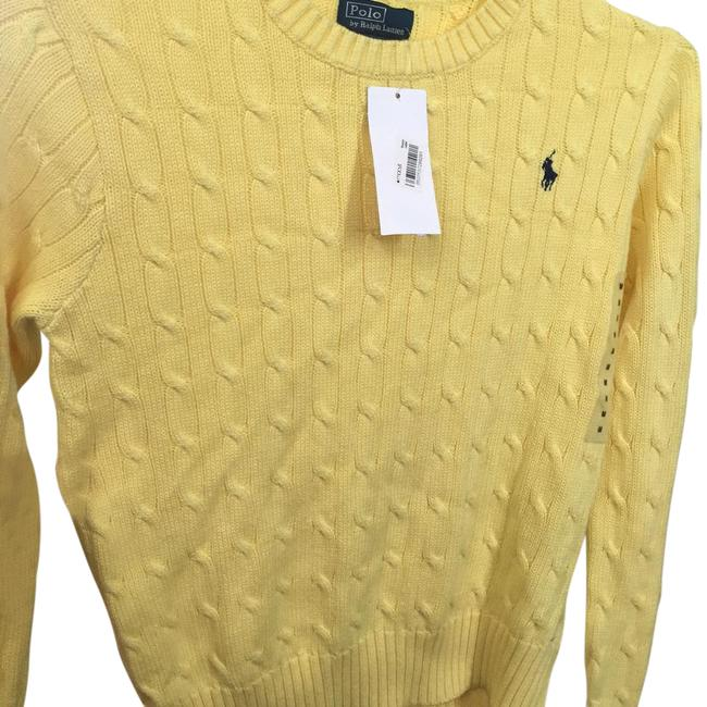 Preload https://img-static.tradesy.com/item/21955449/polo-ralph-lauren-yellow-cable-knitted-sweater-0-1-650-650.jpg