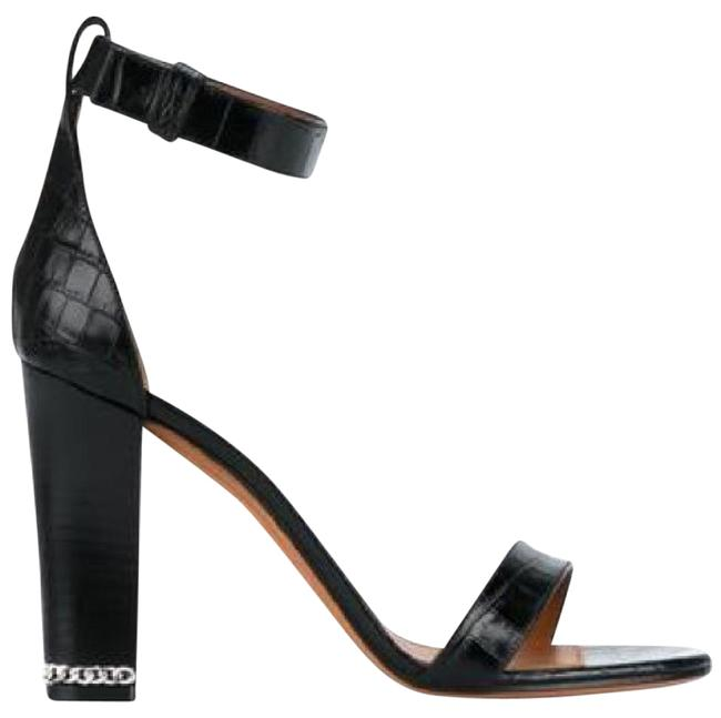 Givenchy Black Chain Croc Embossed Sandals Size EU 38 (Approx. US 8) Regular (M, B) Givenchy Black Chain Croc Embossed Sandals Size EU 38 (Approx. US 8) Regular (M, B) Image 1