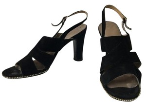 Vintage Suede Retro Pinup 40's Black Pumps