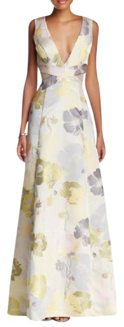 Item - Yellow/Floral Abs Print Gown Long Cocktail Dress Size 4 (S)
