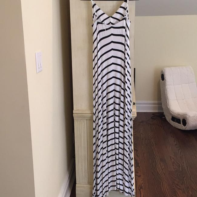 White and Black stripe Maxi Dress by Scoop NYC Image 1