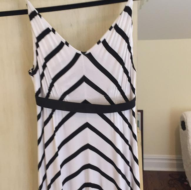 White and Black stripe Maxi Dress by Scoop NYC Image 2