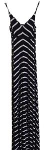 Black and White stripe Maxi Dress by Scoop NYC