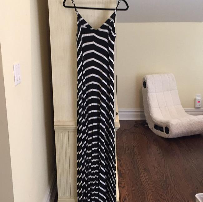 Black and White stripe Maxi Dress by Scoop NYC Image 1
