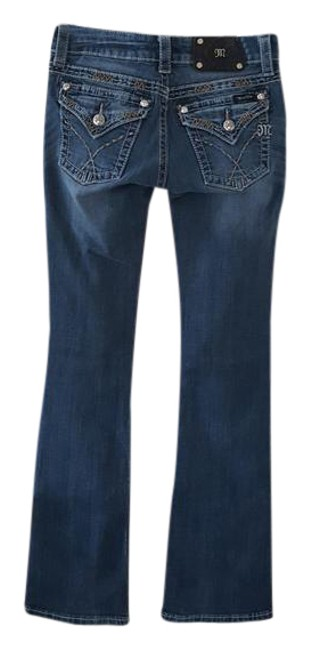 Miss Me Boot Cut Jeans-Medium Wash Image 0