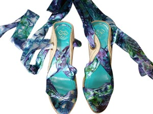 BCBG purple green multi Wedges