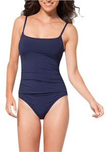 Anne Cole ANNE COLE NAVY CLASSIC RUCHED ONE PIECE MAILLOT SWIMSUIT 6