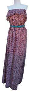 pink/blue flowers Maxi Dress by No Boundaries