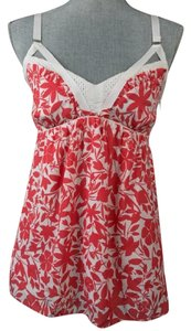 Cynthia Steffe Printed Floral Top Pink/White