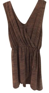 Joie short dress Brown with very thin black stripes on Tradesy