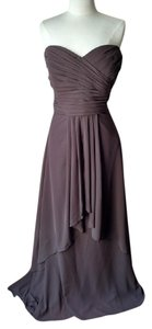Mori Lee Chocholate Chiffon Style # 644 Formal Bridesmaid/Mob Dress Size 24 (Plus 2x)