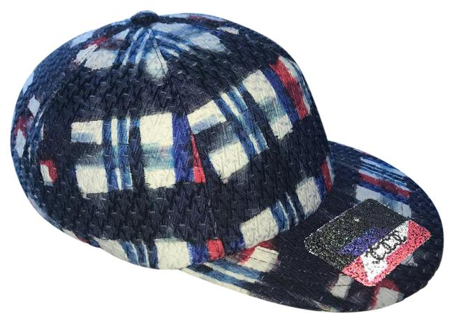 Item - White/Blue/Navy/Red Airline Cap Hat
