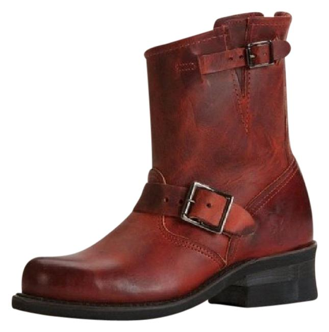 Item - Brick Red New Engineer 6in Burnt Boots/Booties Size US 6 Regular (M, B)