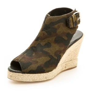 ElyseWalker Los Angeles Camo Wedges
