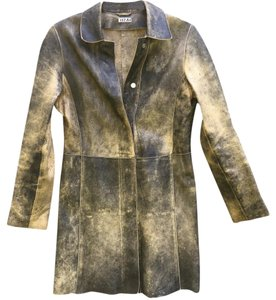 Rizal Distressed Brown Leather Jacket