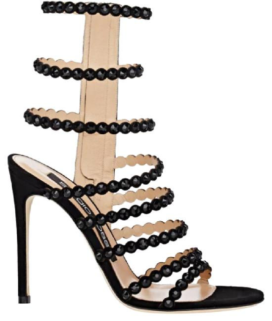 Item - Black Box New Strappy Crystal Embellished Jewel Sandals Heels Party Formal Shoes Size EU 37.5 (Approx. US 7.5) Regular (M, B)