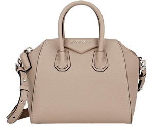 Givenchy Mini Antigona Sugar Antigona Nude Mastic Satchel in taupe