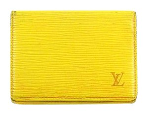 Louis Vuitton Porte 2 Cartes Epi Coated Leather Slim Credit ID Wallet