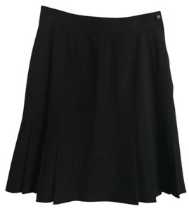Chanel Vintage Pleated Mini Skirt Black