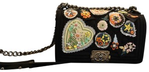 Chanel Felt Boy Embellished Embroidered Unique Cross Body Bag
