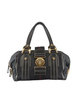 Gucci Canvasxleather Satchel in Black