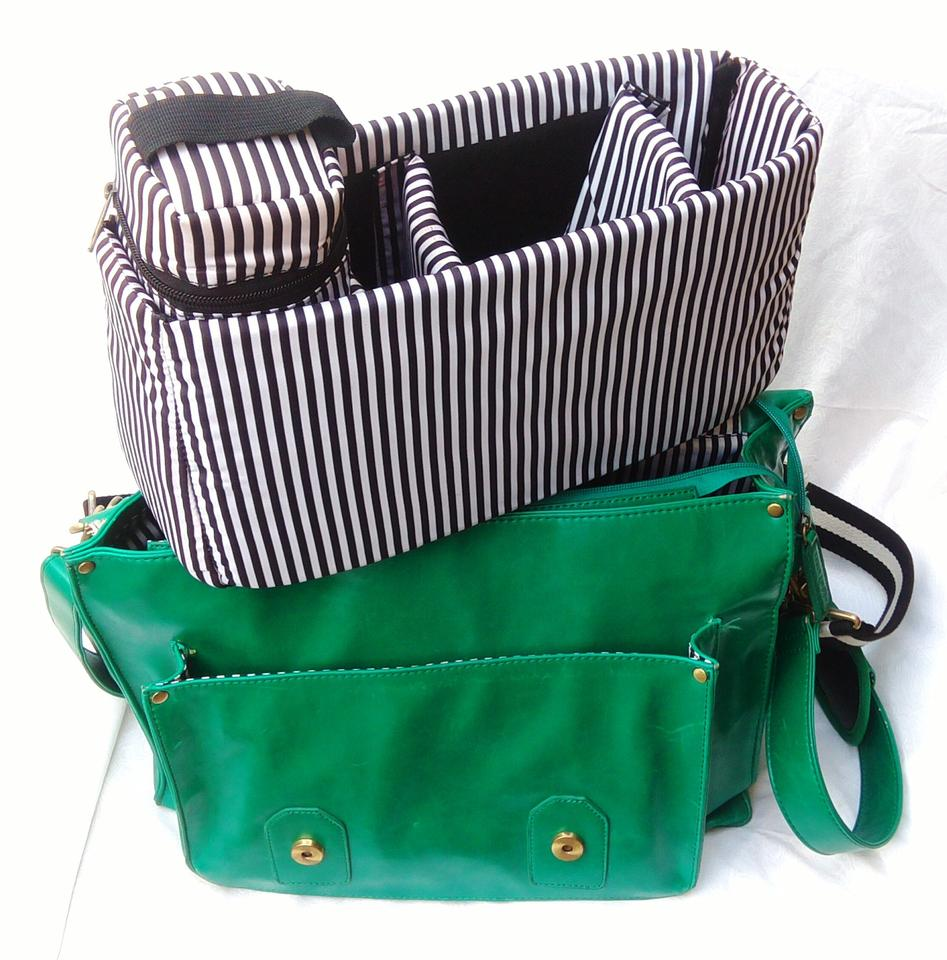 9b236c3f6224 Mess Camera  Messenger Satchel W  Removable Padded Liner Green Leather  Weekend Travel Bag