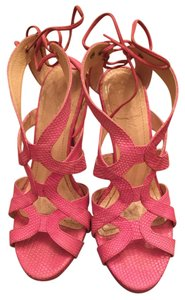 Aperla Lace-up Sophisticated Leather Italian Leather Pink Formal
