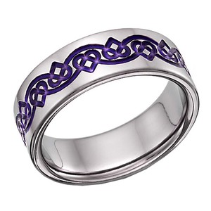 Apples of Gold Purple Celtic Heart Love Knot Ring (All Sizes) Women's Wedding Band