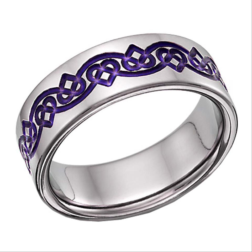 Les Of Gold Purple Celtic Heart Love Knot Ring All Sizes Women S Wedding Band