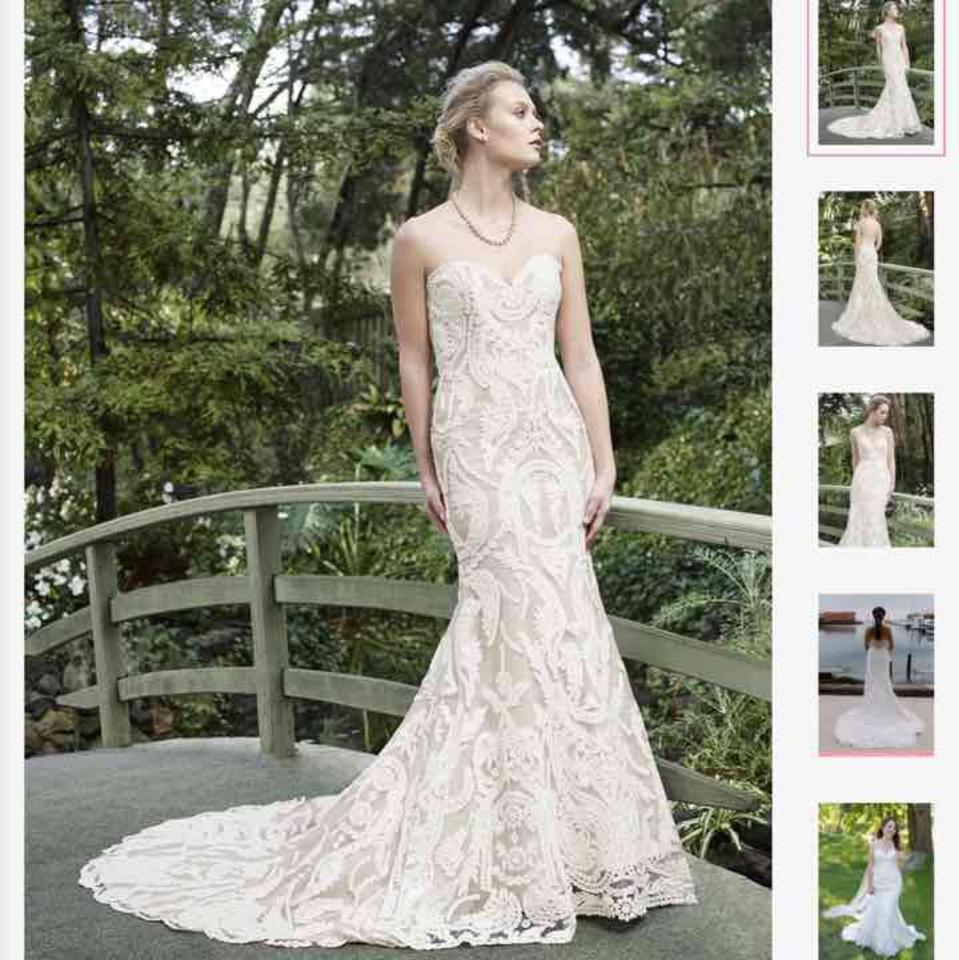Casablanca Champagne/ Ivory Lace Zinnia 2265 Formal Wedding Dress ...