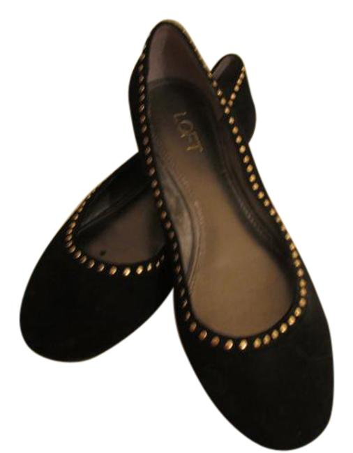 Item - Black with Gold Embellishments New Suede Flats Size US 8 Regular (M, B)