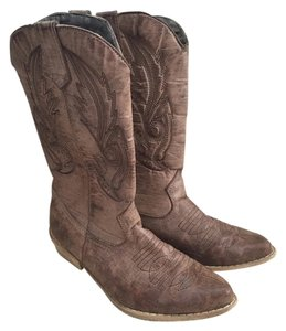 Coconuts Western Leather Gaucho Cowboy Low Dsw Brown Boots
