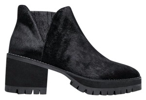 YRU Heel Chunky Synthetic Sole Black Boots