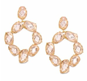 Tory Burch NEW!! TAGS 2017 PINK ROSE GOLD STATEMENT BIG DROP CRYSTAL EARRINGS!