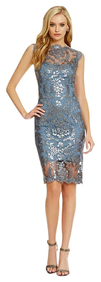 Tadashi Shoji Lace Embroidered Fl Party Wedding Dress 1234567891011