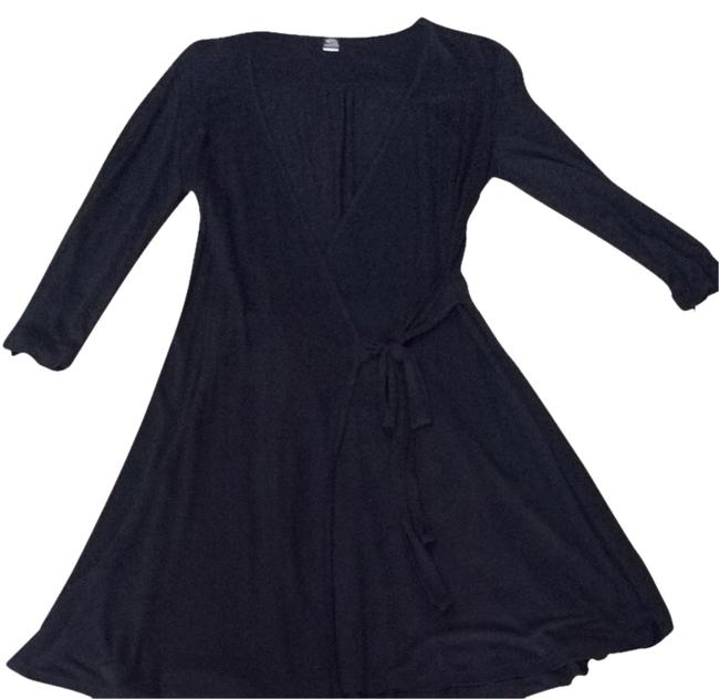 Item - Black Venice Ruffle Bk Robe Short Casual Dress Size 4 (S)