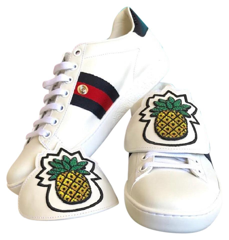 dd62bccc7 Gucci Ace Pineapple Womans Sneakers Size 38 Removable Patches White  Athletic Image 0 ...