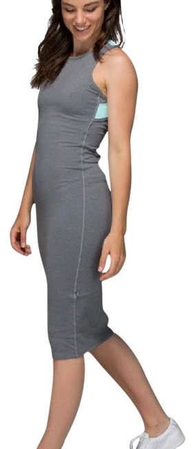Item - Gray Picnic Heathered Slate Tranquil Blue Long Casual Maxi Dress Size 2 (XS)