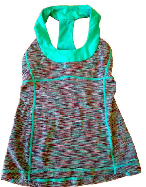 Item - Teal Green with Black Scoop-neck Tank Activewear Top Size 4 (S, 27)