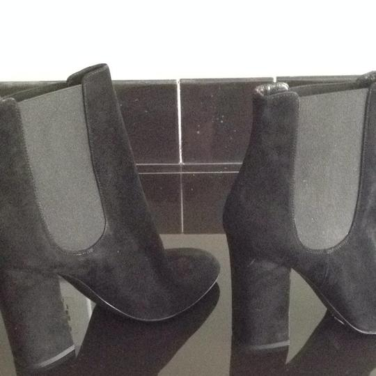 Dolce&Gabbana Black Sueded Ankle Boots
